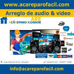 Arreglo de audio y video acareparo