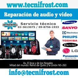 Reparación de audio y video tecnifrost
